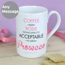 Personalised Acceptable to Drink Windsor Mug P0806A12